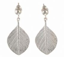 Silver leaf earrings by Goldlip